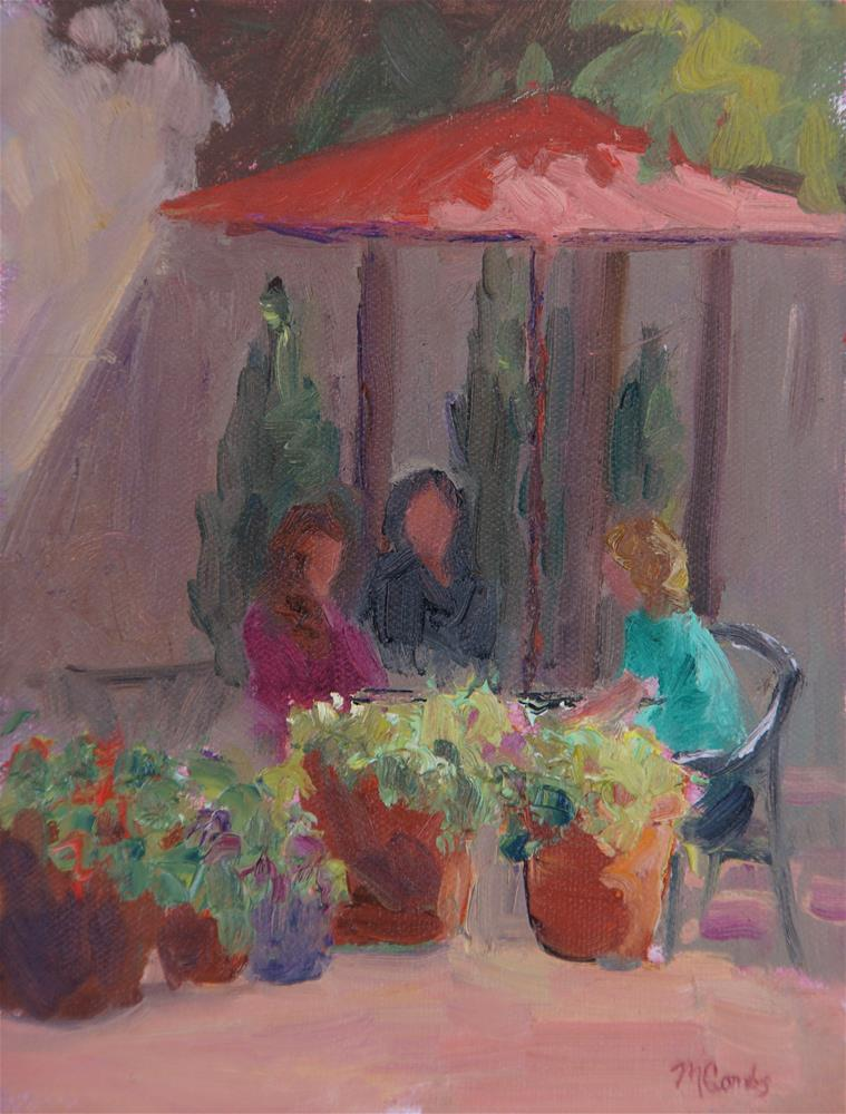 """Girl Talk"" original fine art by Michele Combs"