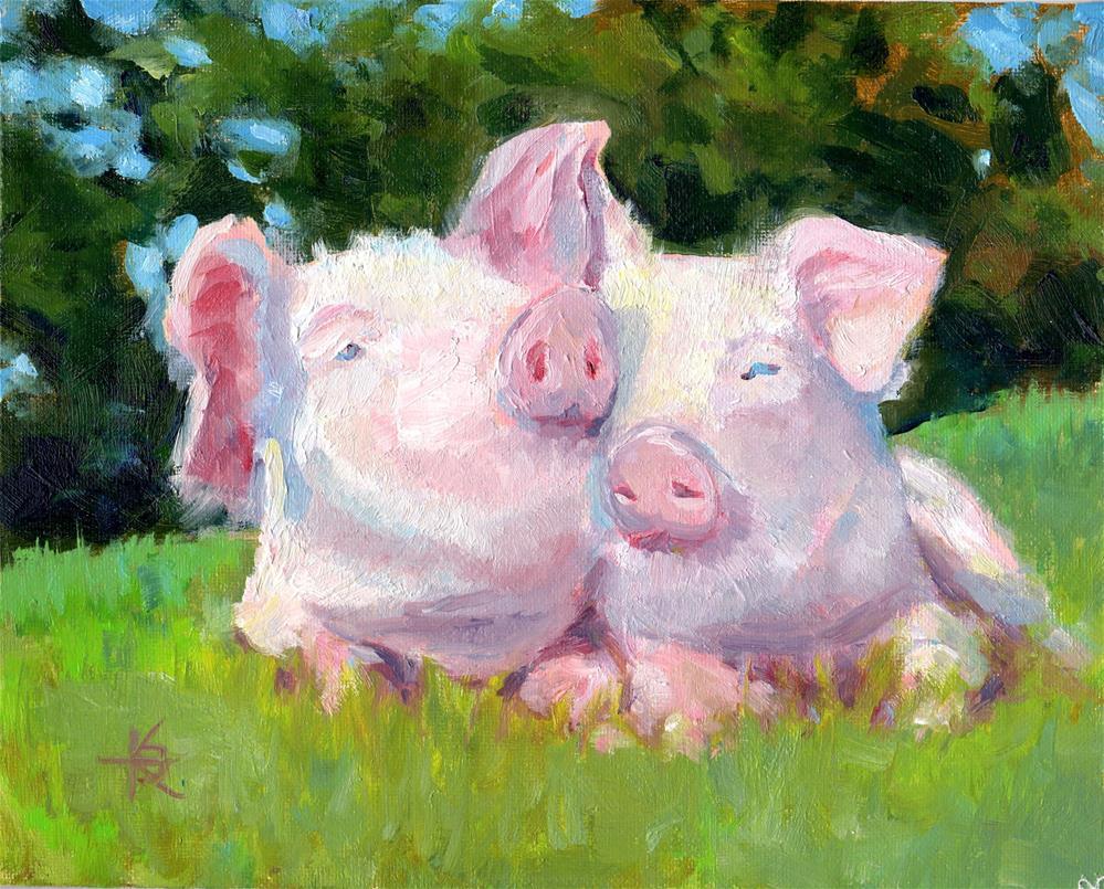 """Splendor in the Grass"" original fine art by Kathy Bodamer"