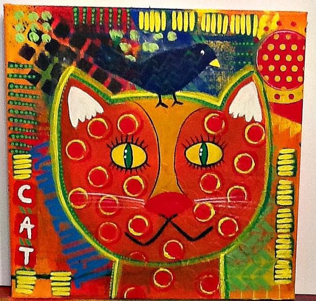 """MY CAT"" original fine art by Cindy Zoglmann"