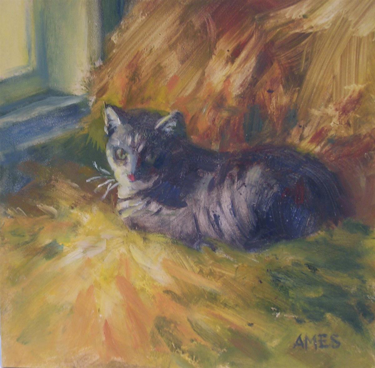 """Tiger"" original fine art by Debra Ames"