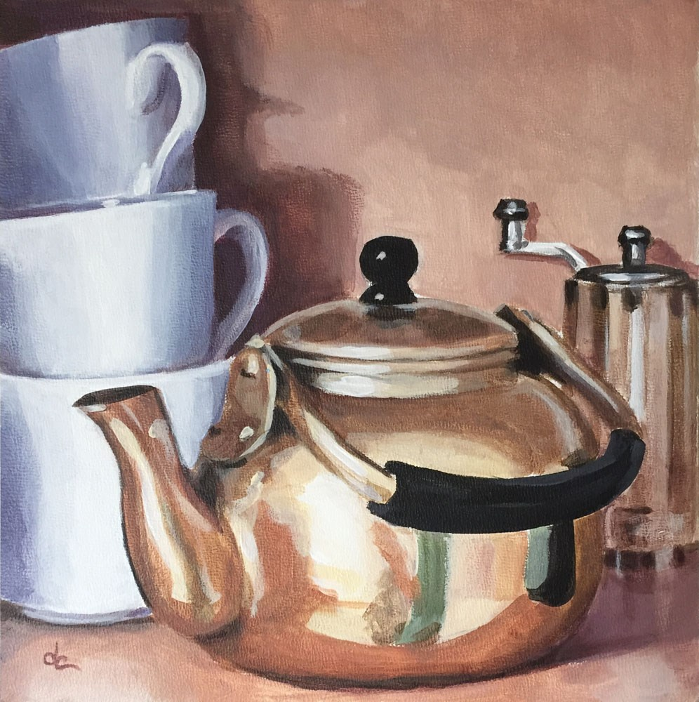 """Waiting For Teatime"" original fine art by Dana Chester"