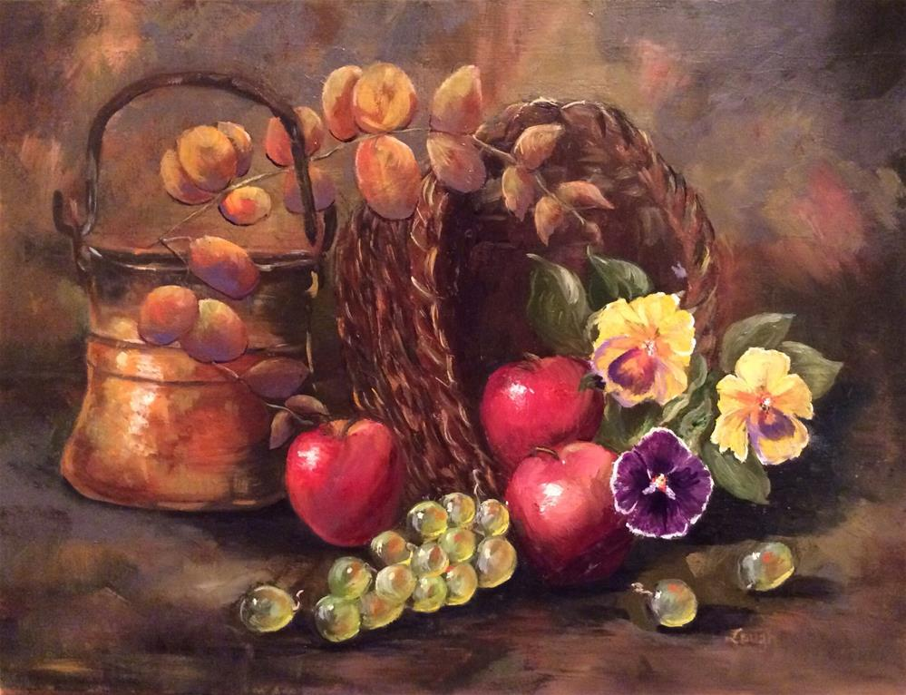 """Bronze Eucalyptus"" original fine art by Charlotte Lough"