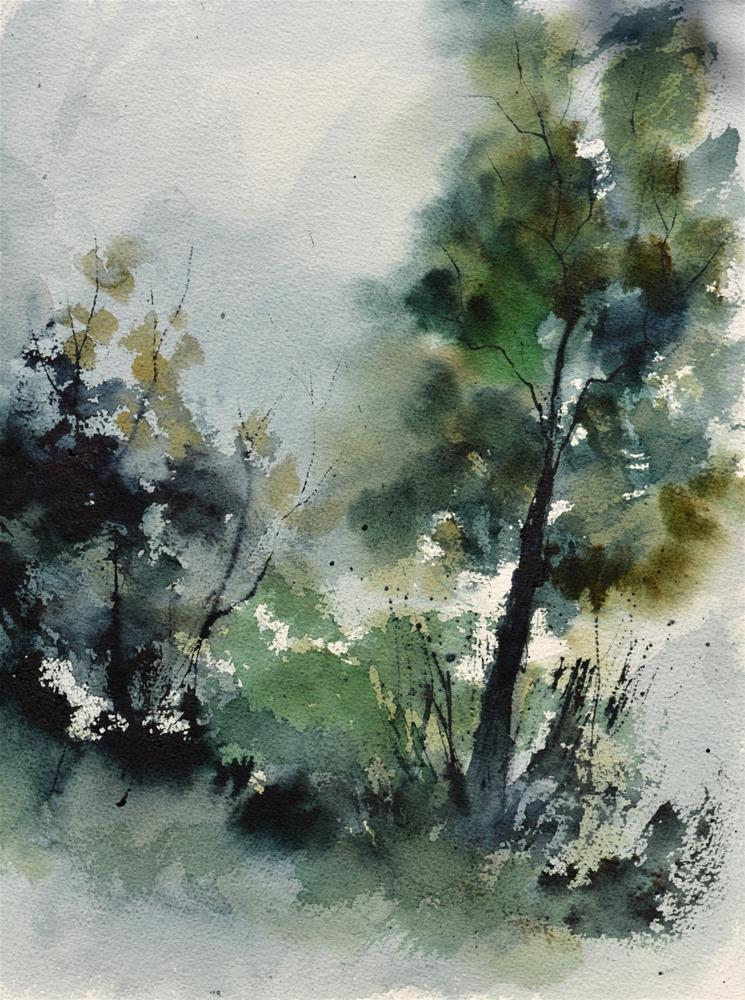 """watercolor 518022"" original fine art by Pol Ledent"