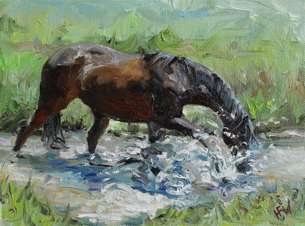 """""""Making a Splash!"""" original fine art by H.F. Wallen"""