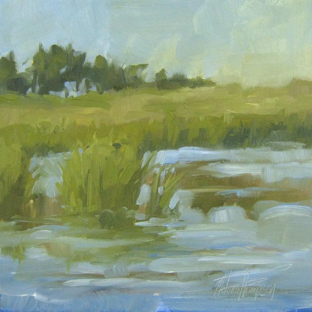 """Summer Marsh"" original fine art by Melanie Thompson"