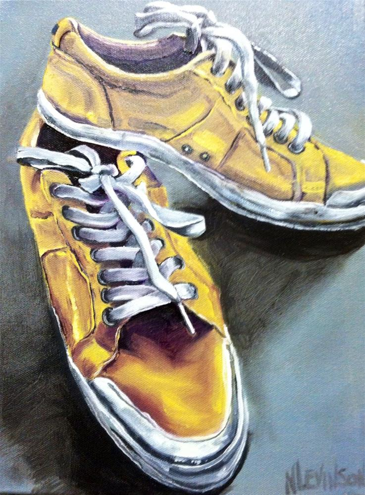 """He Wore These Shoes To Work"" original fine art by Nancy Levinson"