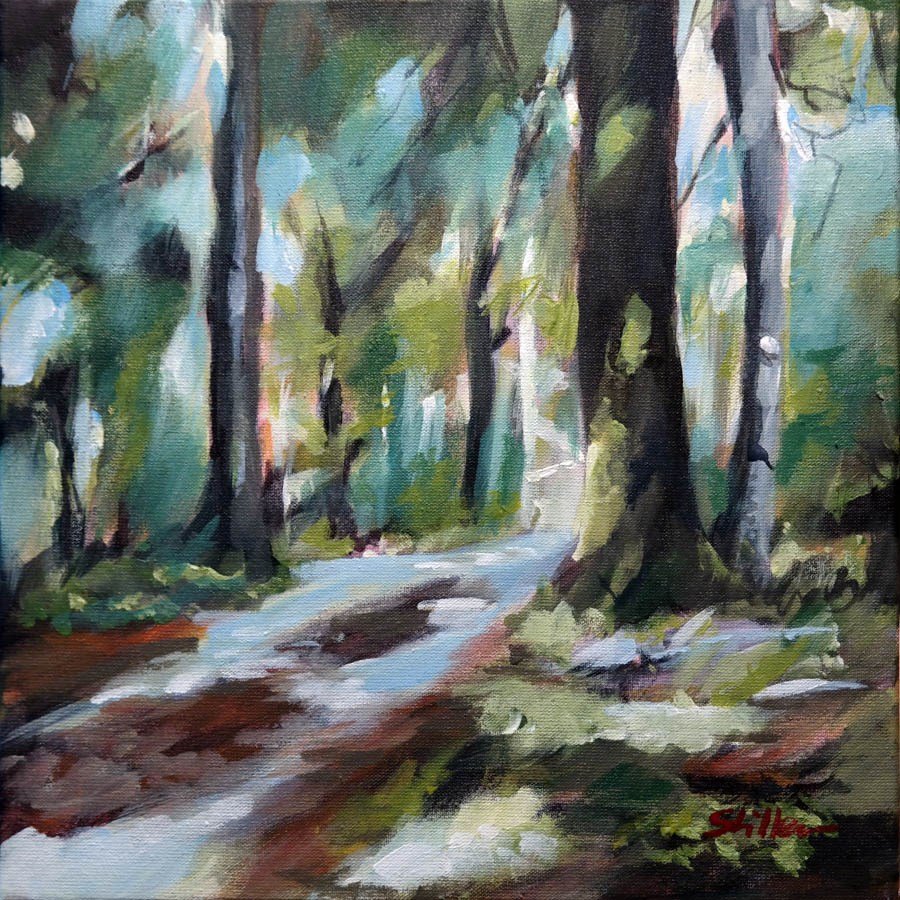 """1741 Forest Tourist"" original fine art by Dietmar Stiller"