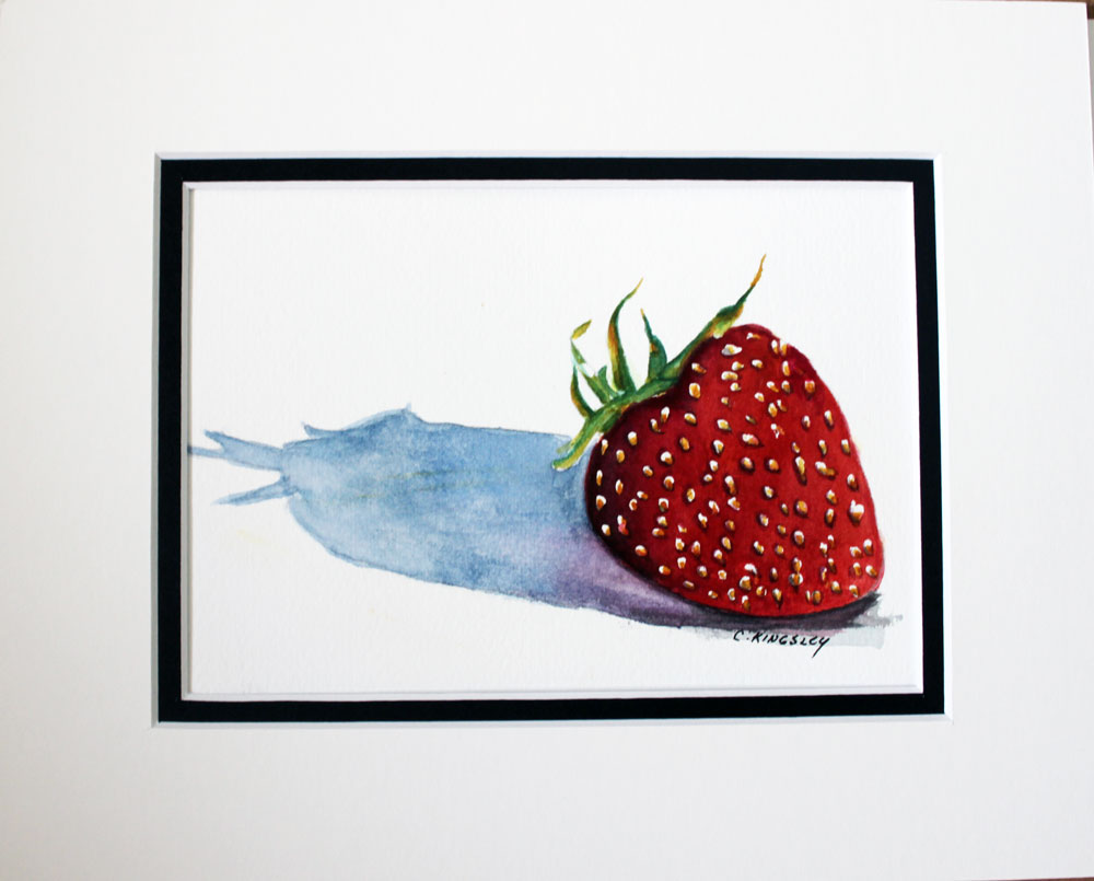 """Berry Lonely II"" original fine art by Christiane Kingsley"