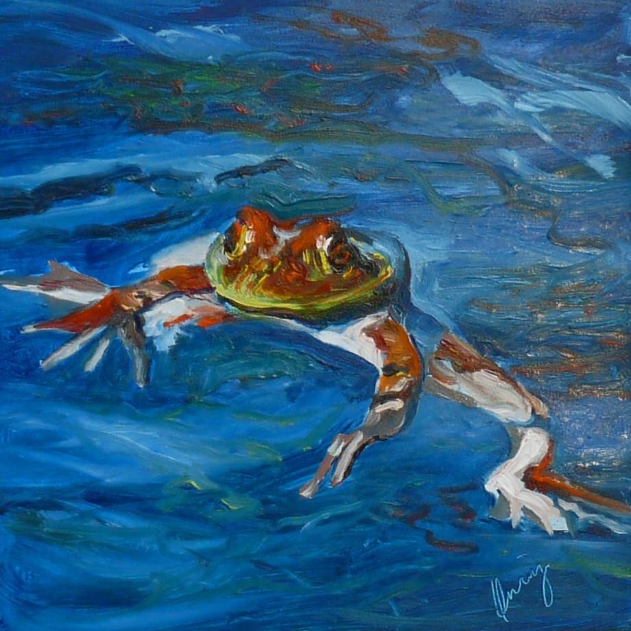 """""""Treadin' Water"""" original fine art by Sharman Owings"""