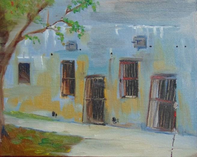 """Bunkers"" original fine art by Catherine Kauffman"