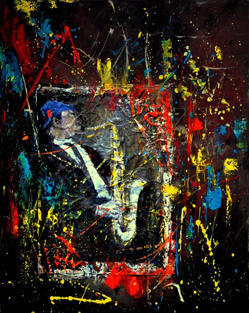 """Saxyfolly"" original fine art by Pol Ledent"