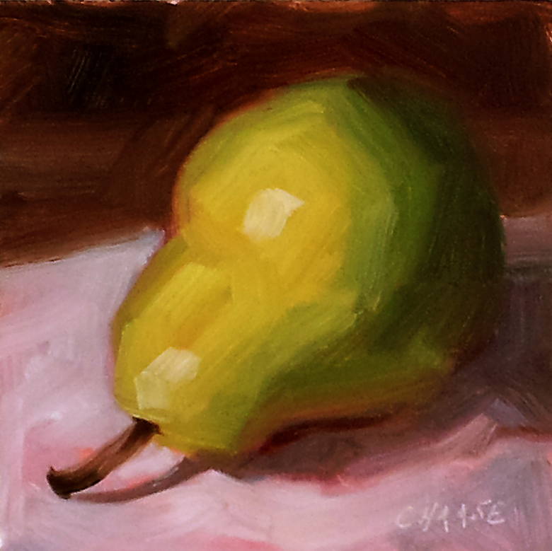 """Reclining Pear"" original fine art by Cindy Haase"