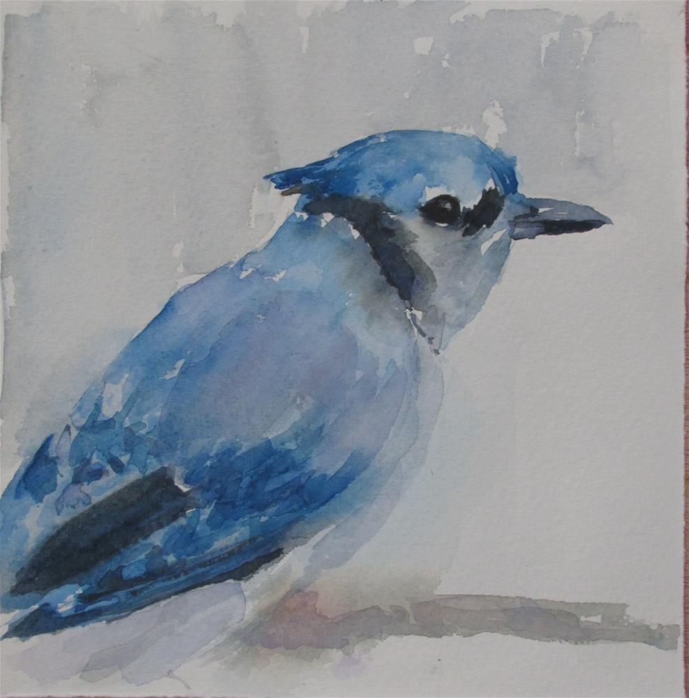 """Bluebird II"" original fine art by Yolanda Moreno"