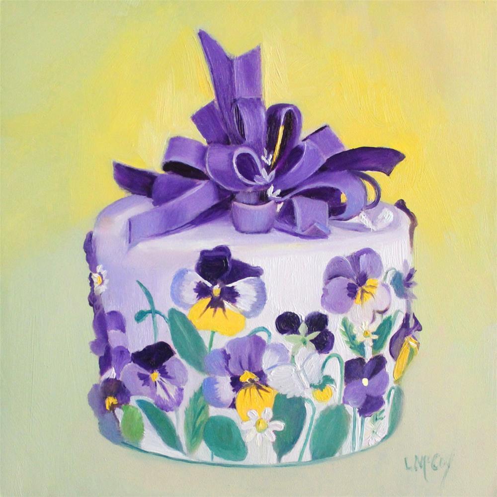 """Just a Small Piece Please!"" original fine art by Linda McCoy"