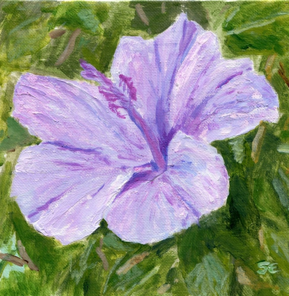 """Hot Hibiscus"" original fine art by Stanley Epperson"