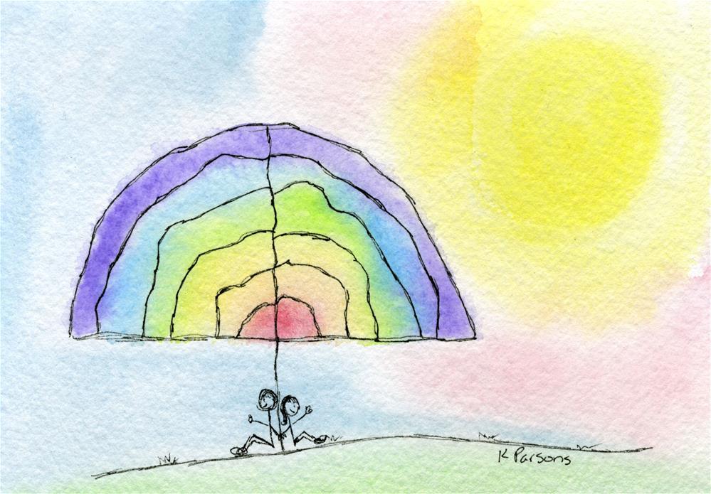 """Rainbow Tree"" original fine art by Kali Parsons"