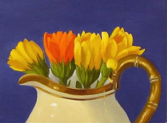 """Buds in a Jug"" original fine art by Karen Johnston"