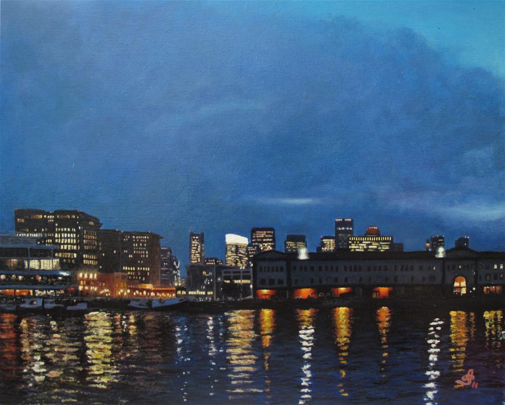 """Seaport Boulevard"" original fine art by Anna Starkova"