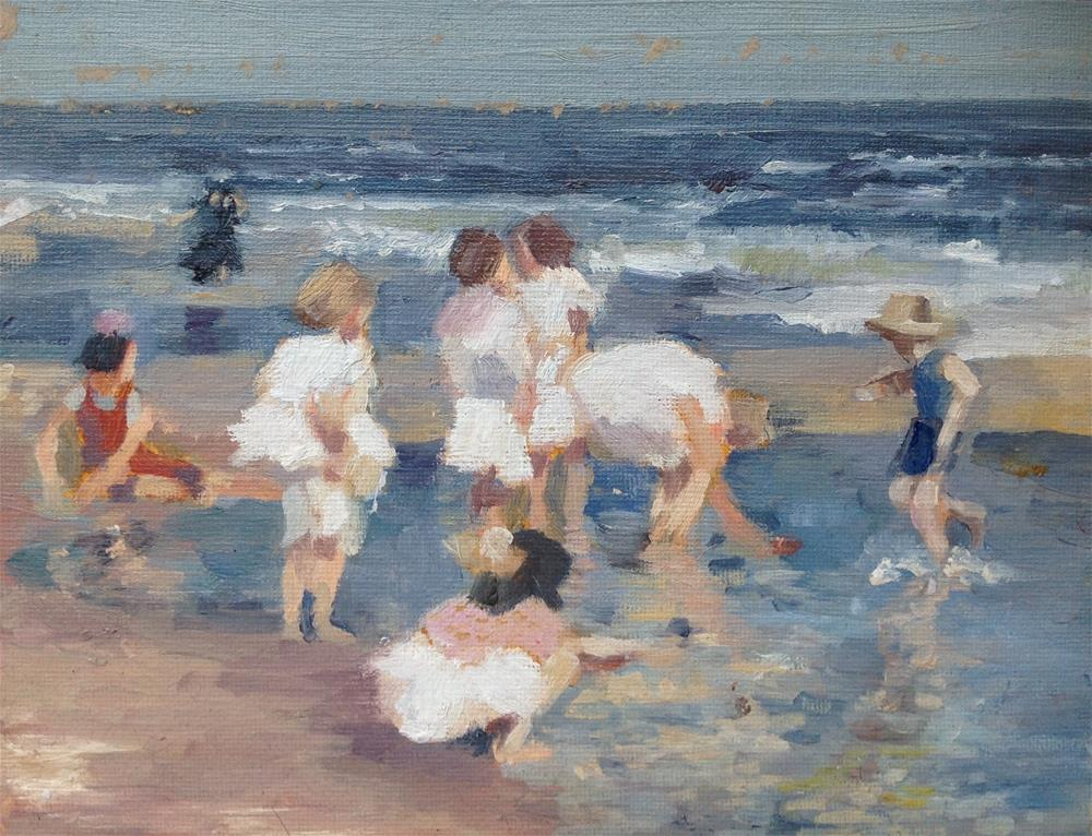 """Study after Edward Potthast"" original fine art by Christine Bayle"