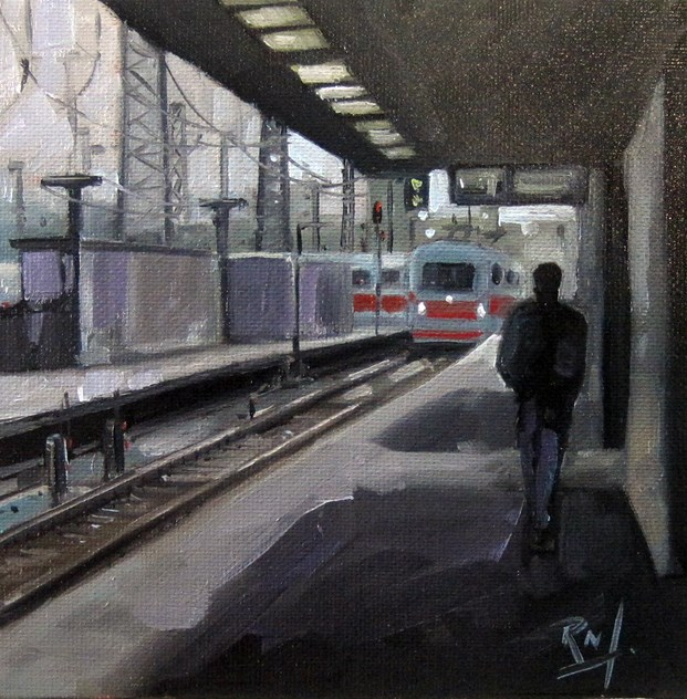 """No 759 The B Line"" original fine art by Robin J Mitchell"