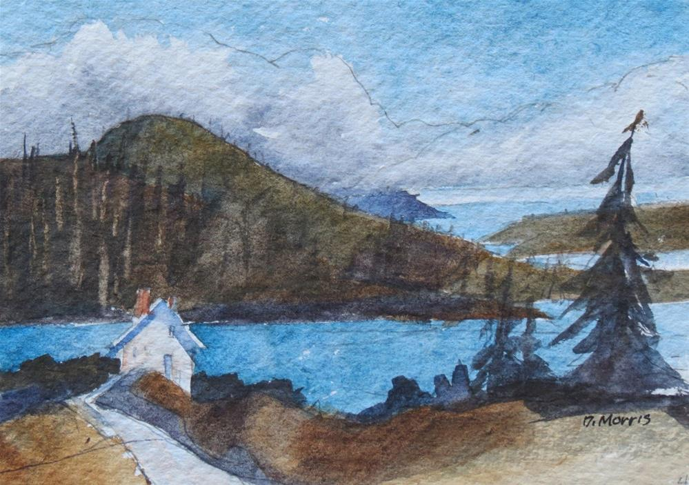 """Land's End"" original fine art by Dann Morris"