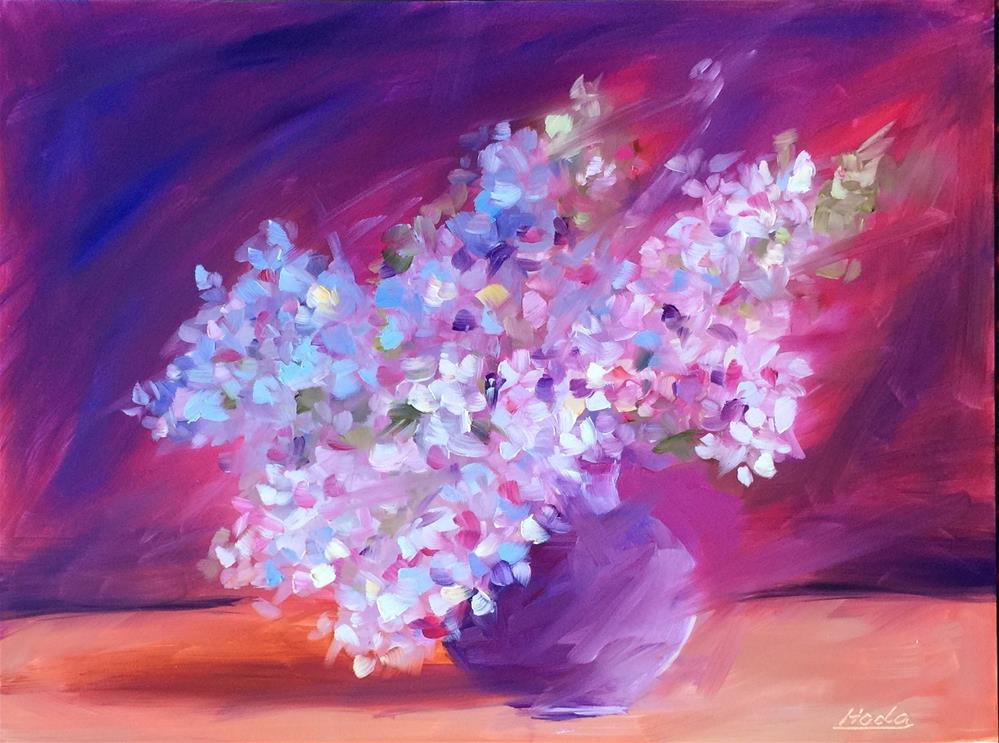 """Happy Easter"" original fine art by Hoda Nicholas"