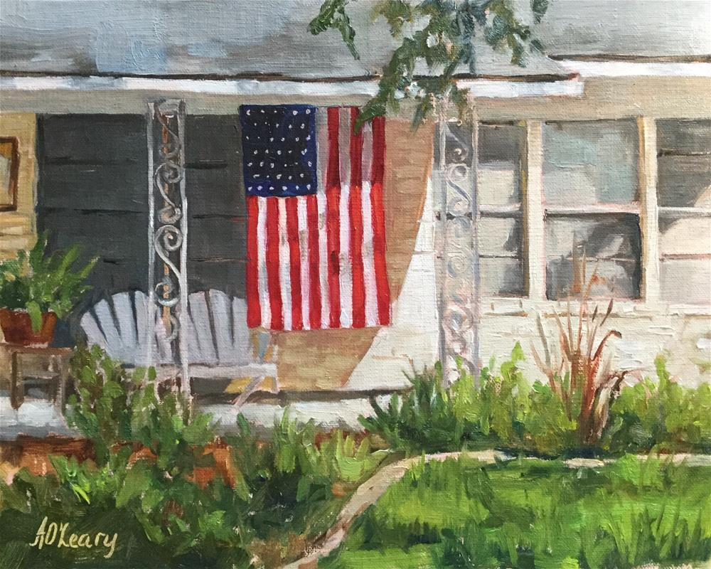 """Shady Comfort"" original fine art by Alice O'Leary"