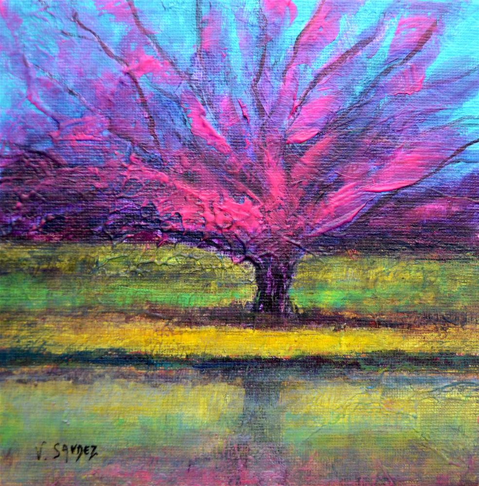 """Spring 3"" original fine art by Véronique Saudez"