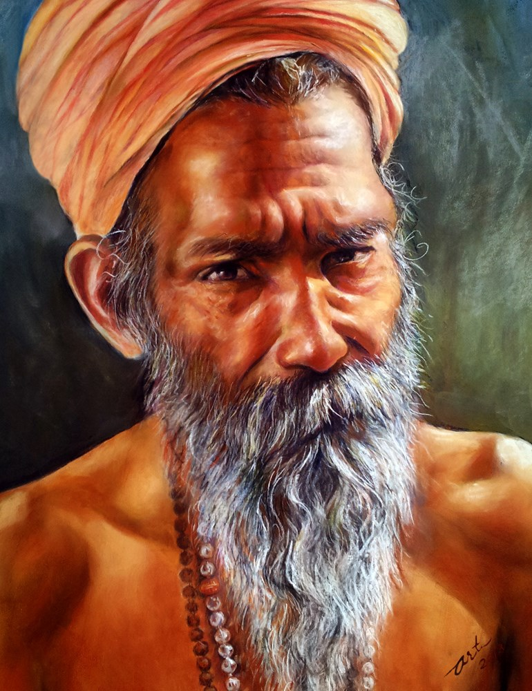 """The Hermit"" original fine art by Arti Chauhan"