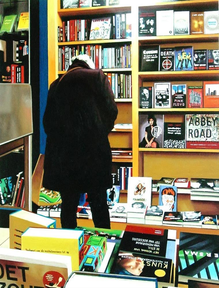 """Bookstore"" original fine art by Gerard Boersma"