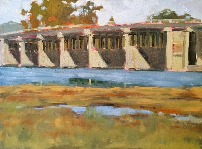 """Richardson Bridge"" original fine art by Deborah Newman"
