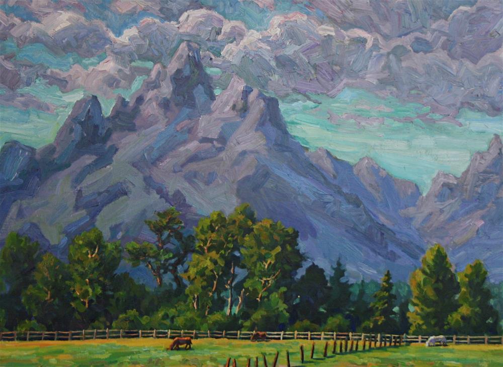 """Teton Pastures"" original fine art by K.R. McCain"