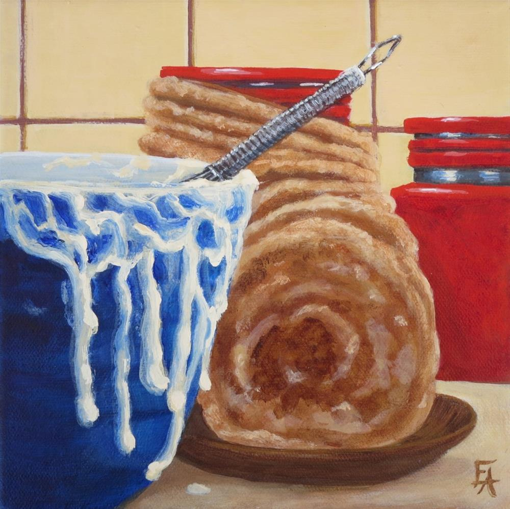 """Pancakes! (half price)"" original fine art by Elizabeth Elgin"