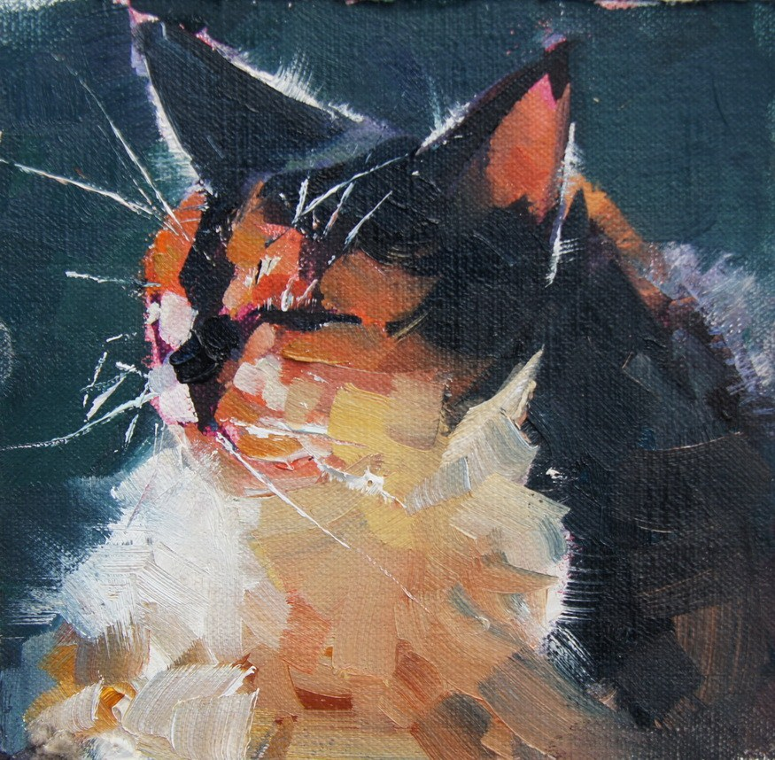Puddy Tat original fine art by Brian Buckrell