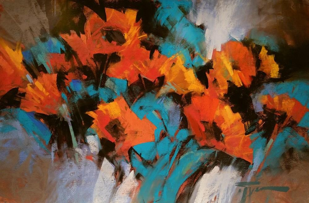 """Midnight Arabesque"" original fine art by Jennifer Evenhus"