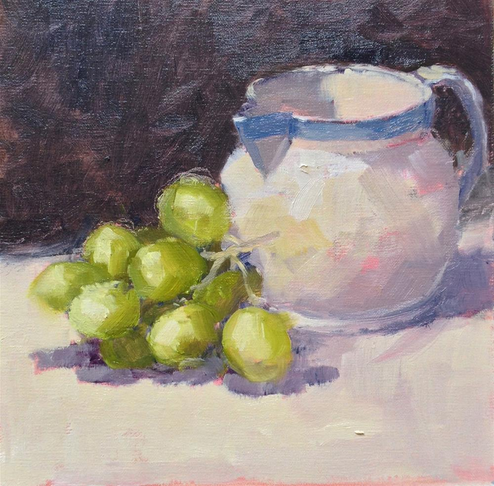 """Milk Jug with Grapes"" original fine art by Mo Teeuw"