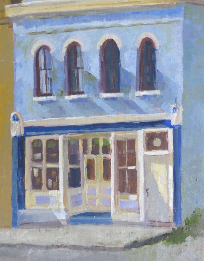 """Old Odd Fellows Building"" original fine art by Pam Holnback"
