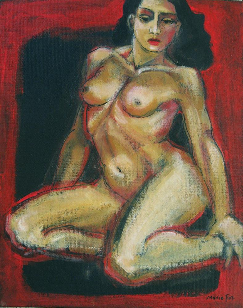 """Nude figure painting of woman, female figuration, classic nude by Marie Fox, contemporary realism pa"" original fine art by Marie Fox"