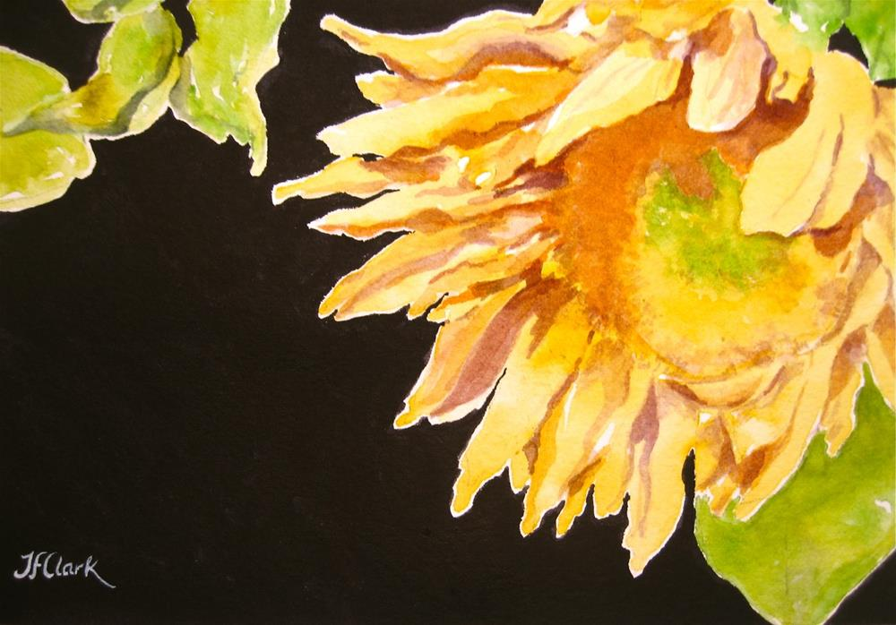 """A Sunflower for Jane"" original fine art by Judith Freeman Clark"