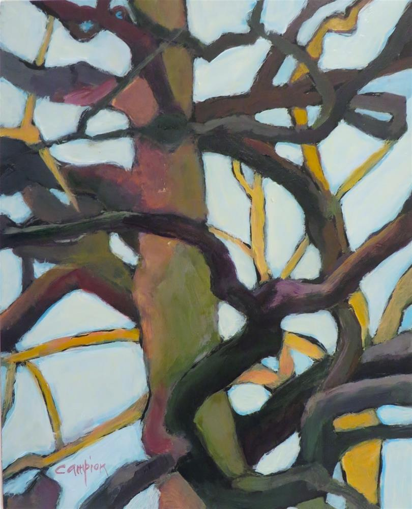 """631 The Mighty Oak"" original fine art by Diane Campion"