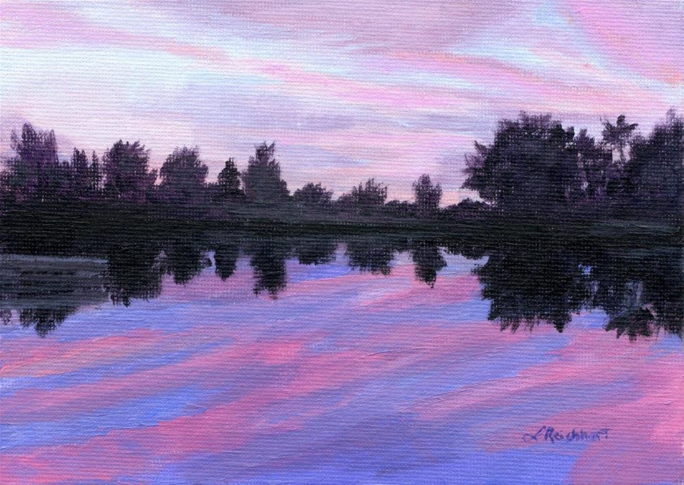 """Camp Sunset"" original fine art by Lynne Reichhart"