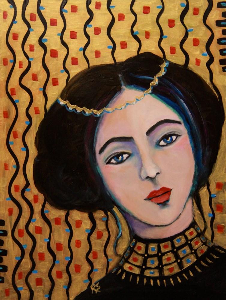"""Alma in Gold"" original fine art by Roberta Schmidt"