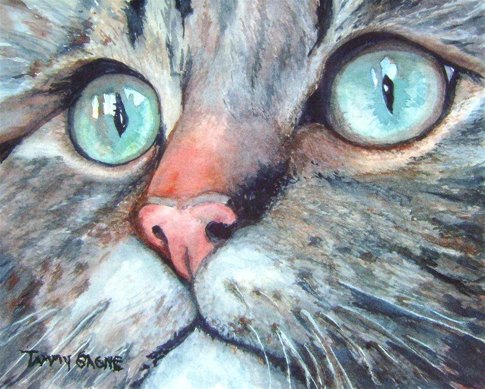 """Muffy"" original fine art by Tammy Gagne"