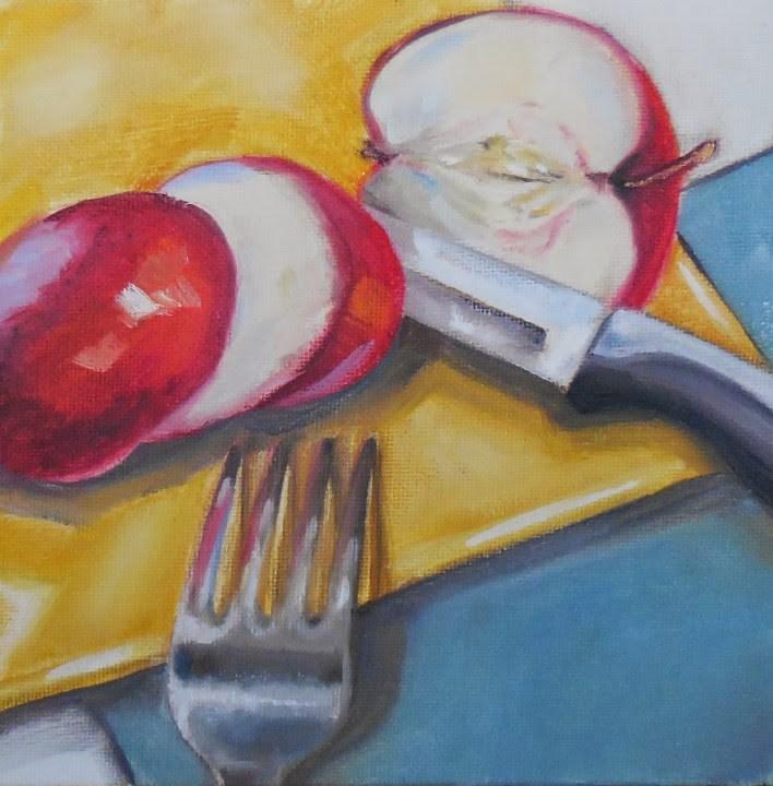 """""""Weird Slice"""" original fine art by Beth Moreau"""