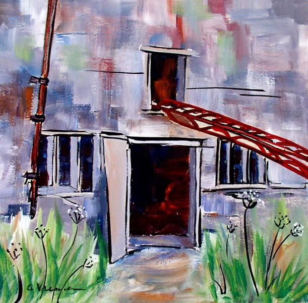 """Barn #6"" original fine art by Anna Vreman"