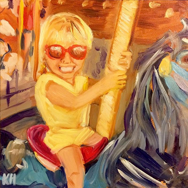 """...Like A Merry-Go-Round..."" original fine art by Katherine Hambley"