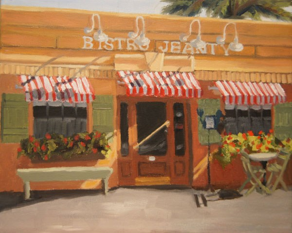 """Bistro Jeanty"" original fine art by Jeanette Baird"