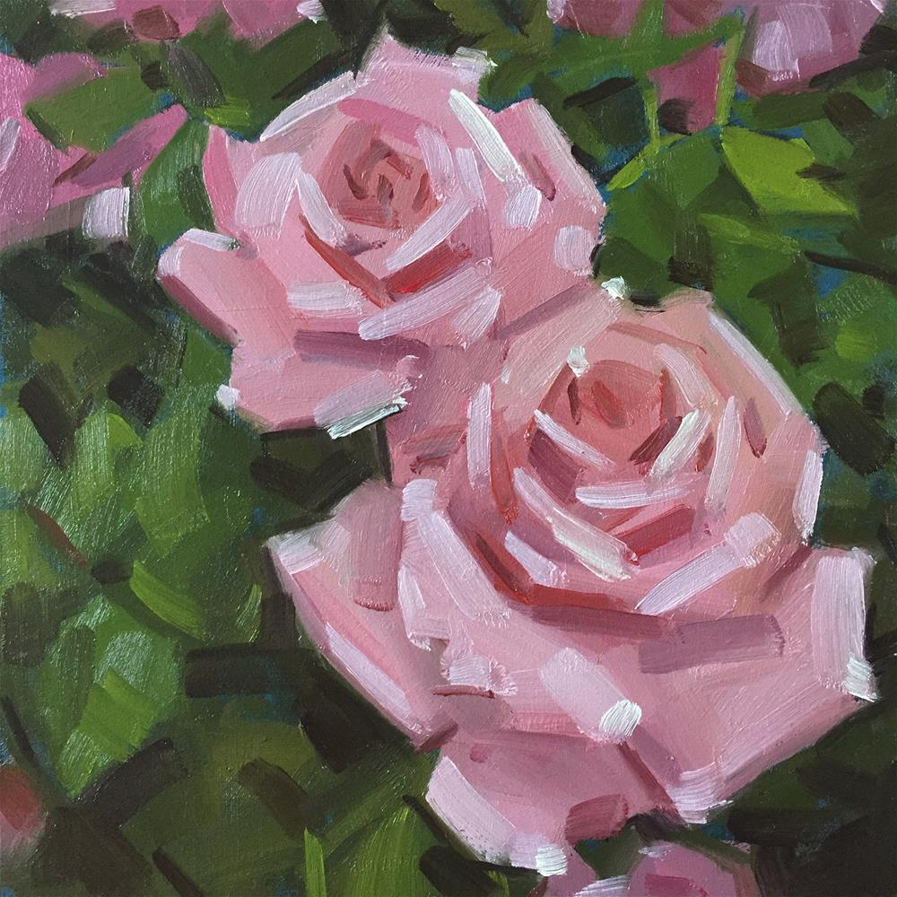 """Pink Roses"" original fine art by Jiyoung Kim"