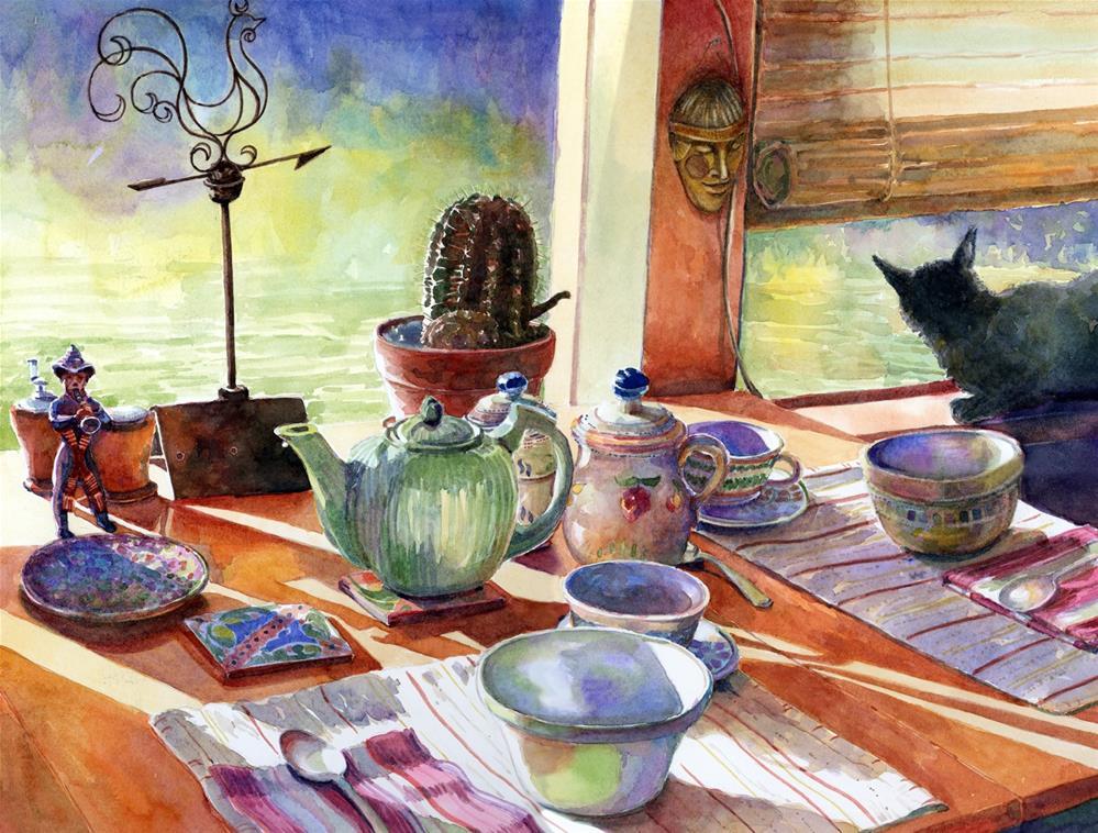 """Watercolor: Mexican Breakfast"" original fine art by Belinda Del Pesco"