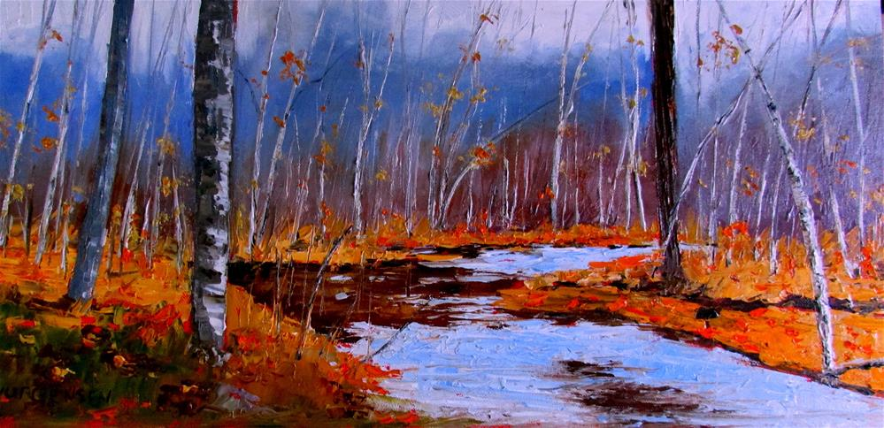 """24 x 12 inch oil"" original fine art by Linda Yurgensen"